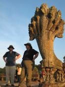 Steve & Mom @ Angkor Walkway