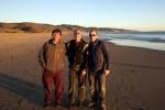 151231 on Limantour Beach w Gene &Howard