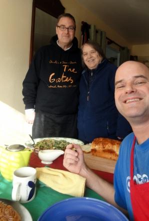 Steve Mom Paul Xmas Bkfst Selfie