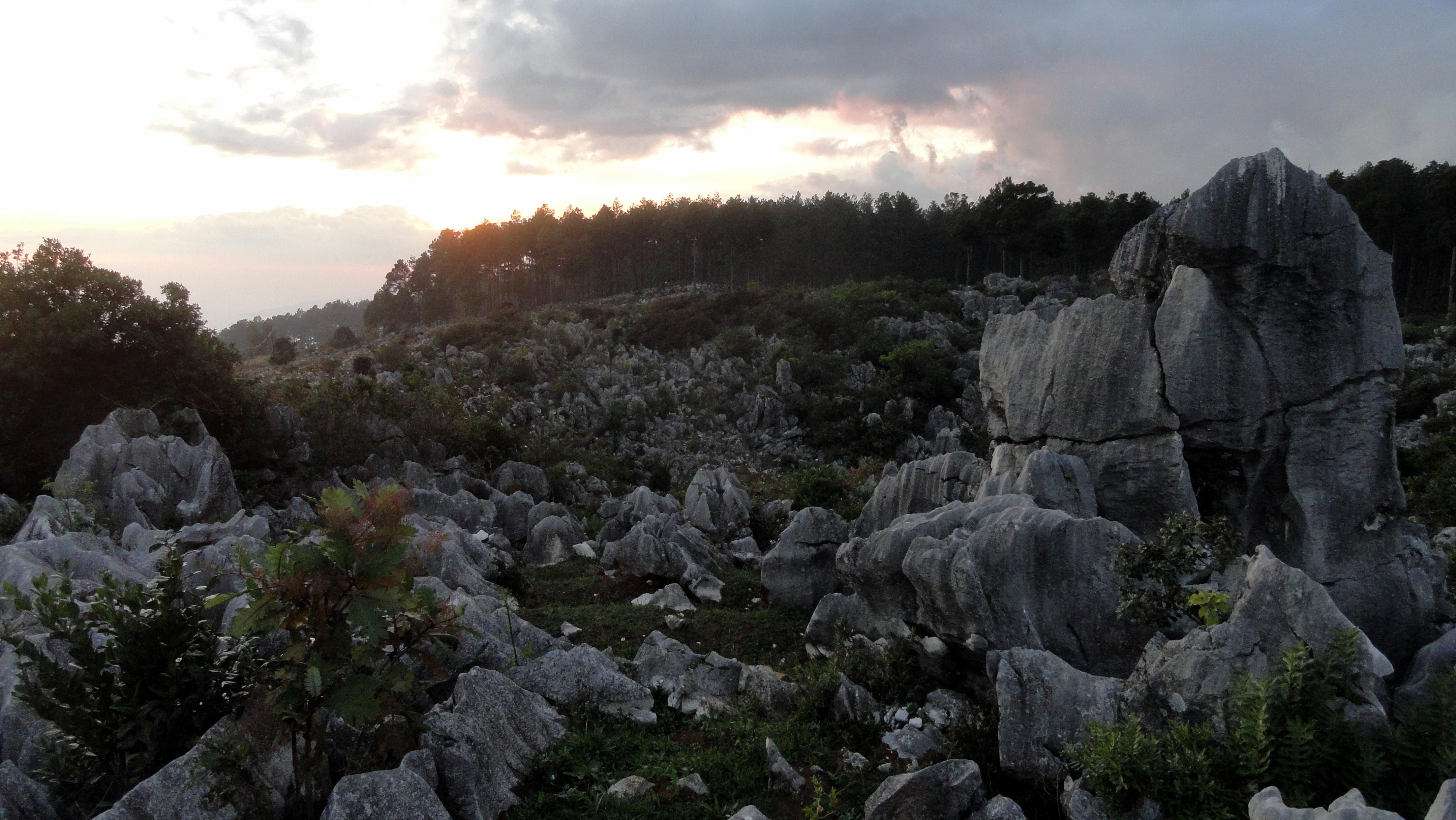 South Coast Rockscape Sunset