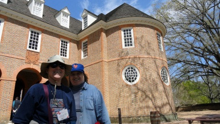 Mom & Judy at Colonial Capitol Building