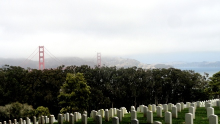 GGB from Presidio Cemetery