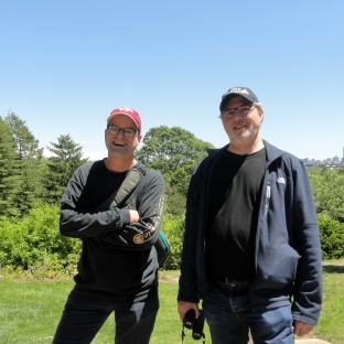 Paul & Steve at Mt Auburn Cemetery