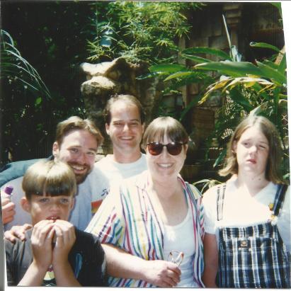 9807 or so LA somewhere Kids & Mom & Steve