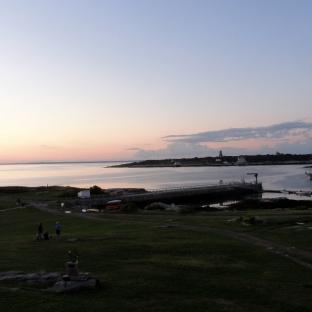 Sunset w Tall Ship & Appledore