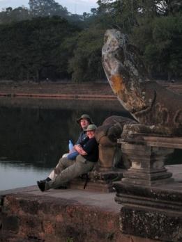 Angkor Wat Sunrise - Mom & Steve