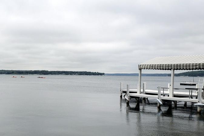 Kayakes on the Lake