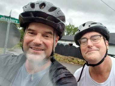 Paul & Steve Bike Around the Lake