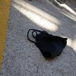 Errant Mask in Parking Garage20201104
