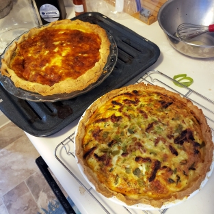 Ratatouille and Cheese & Chile Quiches