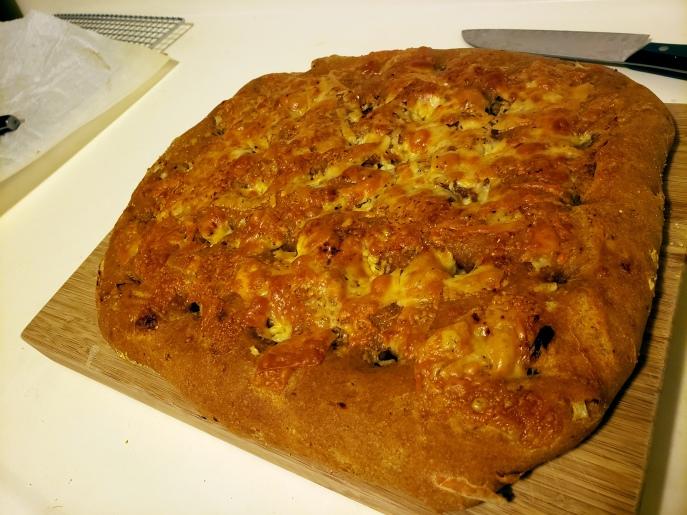 Sourdough Sundried-Tomato & Cheese Focaccia