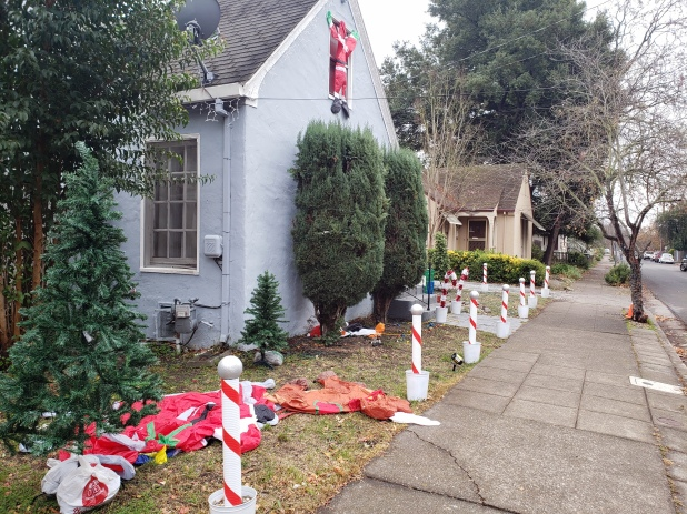Candycanes & Deflated Nighttime Decorations