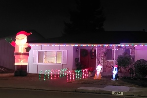 Candycanes & Huge Santa