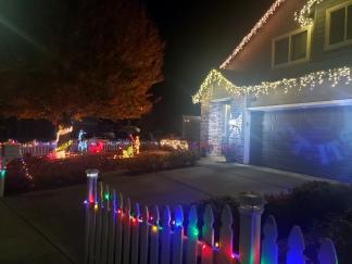 Icicle Lights & A Light Saber