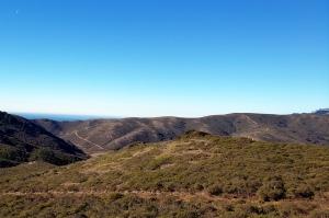 Midday Moon & Coastal Trails