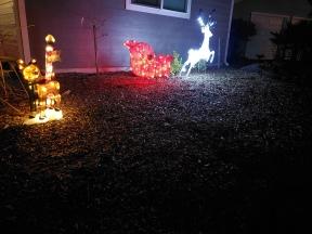 North Pole Deer & Sleigh