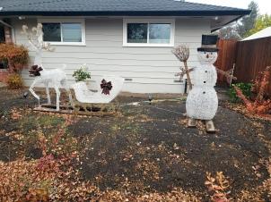Snowman Reindeer & Sleigh