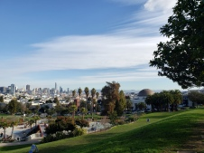 20210126 Dolores Park Covid Signs & Skyline